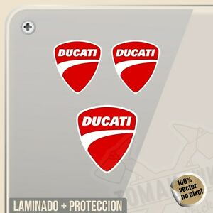 Pegatina Kit Ducati Logo 3 Unidades Logo Vinilo Vinyl