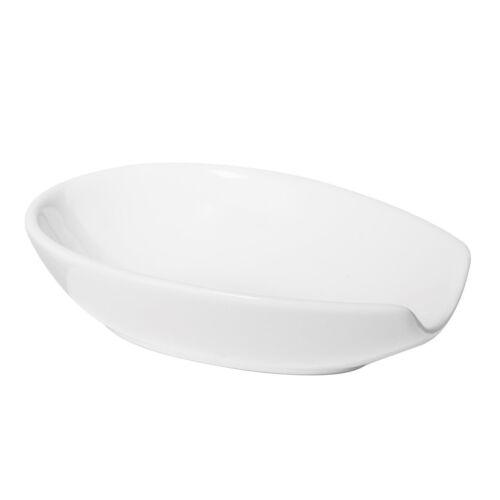 White Utensil Holder Kitchen Stove Top Oggi Any Size Spoon Ceramic Spoon Rest