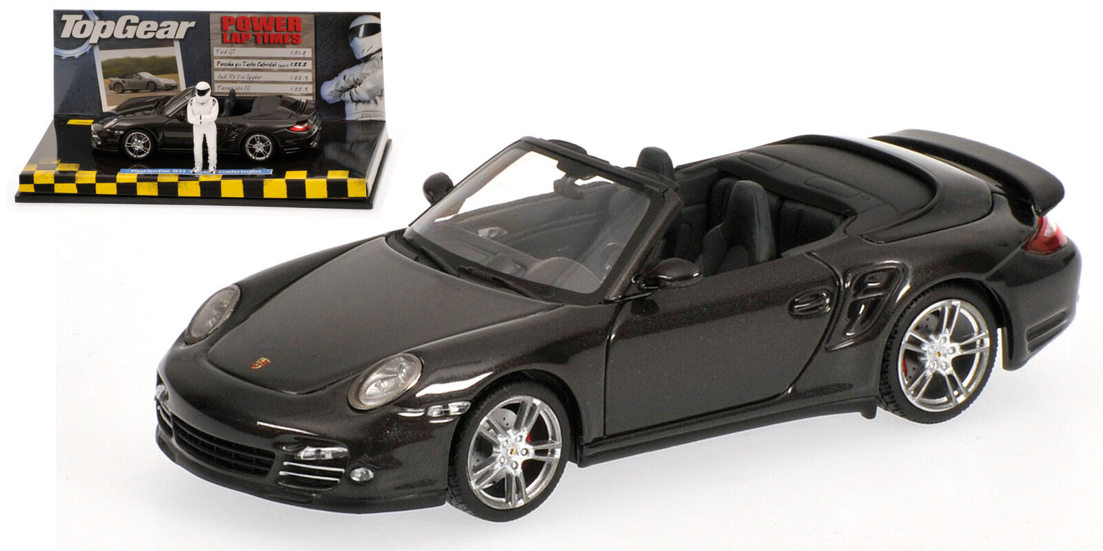 Porsche 911 II) Turbo (997 II) 911 2009 Grey Metallic Top Gear 1:43 Model MINICHAMPS 48d8ce