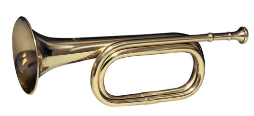 brass army military funeral taps cavalry b-flat bugle 13 with mouthpiece 10405