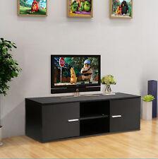 Modern TV Unit TV Cabinet TV Stand Black Matt Finish and Shelf LED LCD TV Table