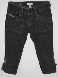 Diesel-WAKU-0089S-Waist-26-Ladies-Grey-Denim-Jeans-Shorts