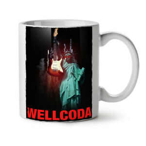 Freedom Guitar NEW White Tea Coffee Mug 11 oz | Wellcoda
