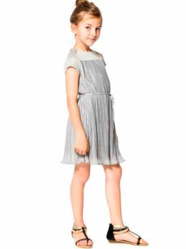 Deux Par Deux Oscars Night Grey Pleated Girls Party Dress Girls 7-12 NWT