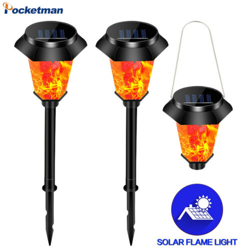 Solar LED Garden Lights Flickering Flame Patio Lights Landscape Light Waterproof