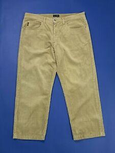Armani-jeans-pantalone-velluto-a-coste-uomo-usato-gamba-dritta-W38-tg-52-T4966