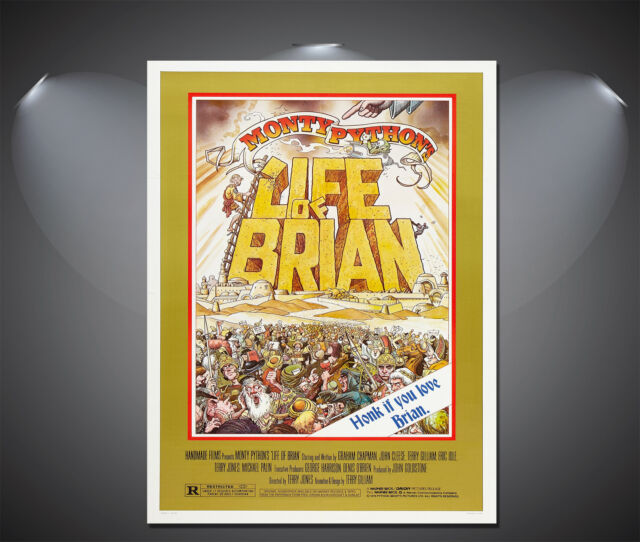 Life of Brian Vintage Movie Poster - A1, A2, A3, A4 available