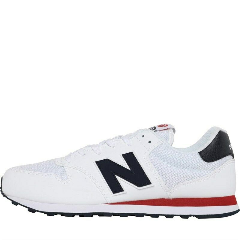 New Balance Mens 500 Trainers in White and Navy   eBay