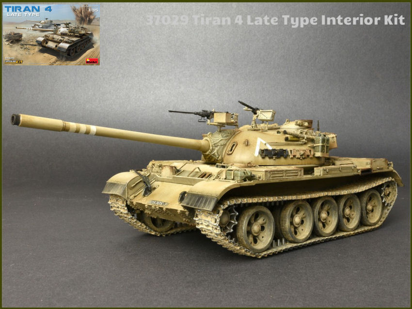 Tiran 4 Late Type Interior Tank Plastic Kit 1  35 Model MINIART  magasin fashional à vendre