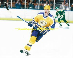size 40 3248b 302a7 Details about BERNIE NICHOLLS In ACTION w/YELLOW JERSEY 8x10 Photo LOS  ANGELES KINGS GREAT WoW
