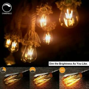 Dimmable 6X ST64 LED Edison Bulb Amber Warm Filament Light 4W Equivalent 40W