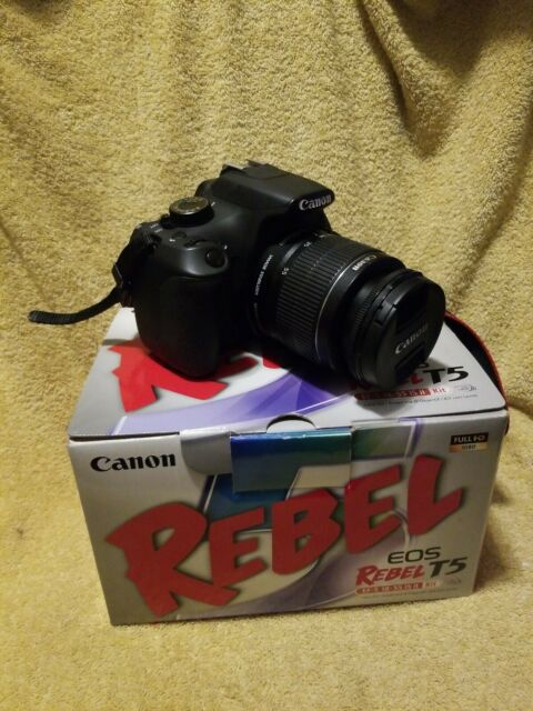 Canon EOS Rebel T5 Camera W/18-55mm & 75-300mm & Extras  TESTED