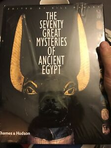 The Seventy Great Mysteries of Ancient Egypt History hard cover rare edition