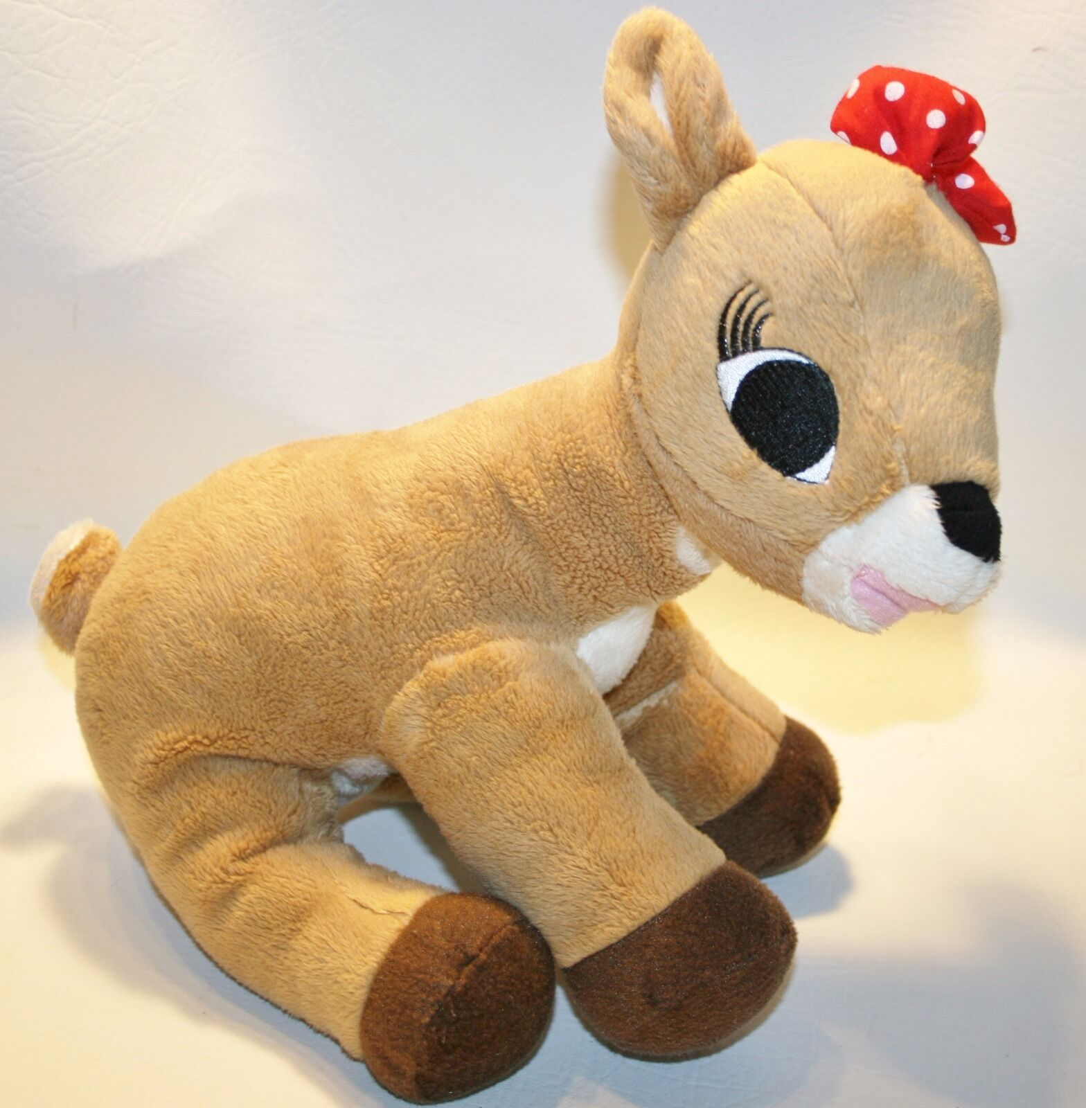 Clarice Rudolph the Red Nosed Reindeer Doll Plush Stuffed 12   2008 Red Bow