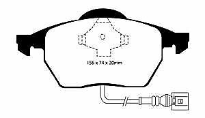 # DP21330 EBC Greenstuff FRONT Brake Pads fit AUDI SEAT SKODA VW