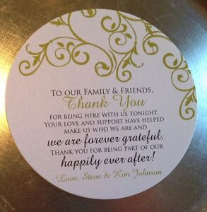 Details About 50 Wedding Reception Thank You Cards For Dinner Plate Vintage Fl Any Color