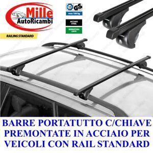 Barre Portatutto Menabo/' Tema per Toyota YARIS 5 porte dal 2005 al 2011 acciaio