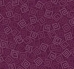 Harmony Cotton BTY Quilting Treasures Tone on Tone Blender Squares Garnet Wine