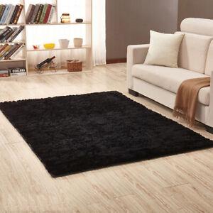 Shaggy Carpet Moelleux Tapis en Fourrure de Lapin Doux Tapis de Salon Chambre
