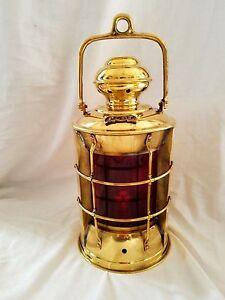 Solid Brass Port Bulkhead  Oil  Lantern