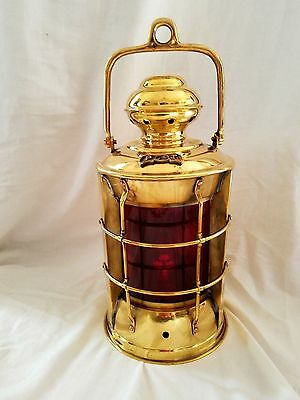 Nautical Solid Brass Port Electric Bulkhead Ship/'s Decoratiive  Lantern