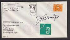 JOHN GLENN signed cover; 1964 dutch space travel archives, 2-YEAR ANNIVERSARY