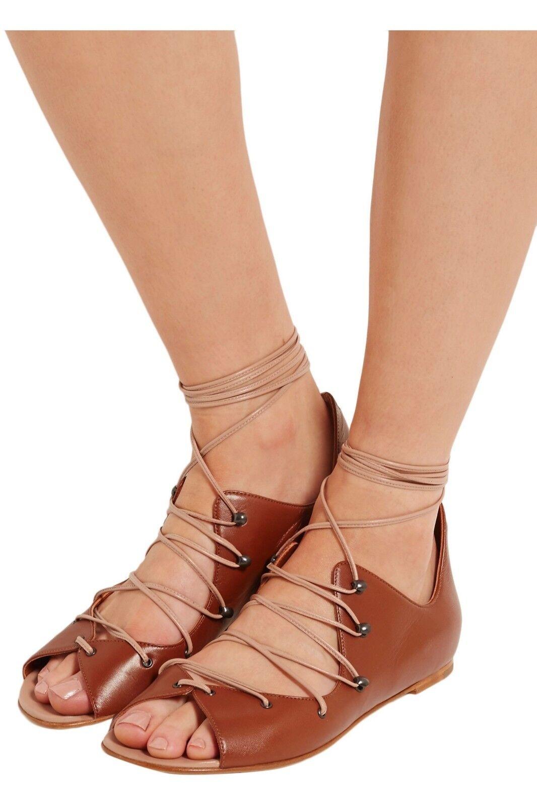 Malone Souliers Savannah lace-up leather sandals Größe EU 36.5 Us 6.5  675