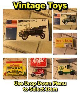 Vintage-en-caja-juguete-de-coches-y-furgonetas-Tomica-Modelo-T-Ford-mejor-Caja-Majorette-Lledo-mas