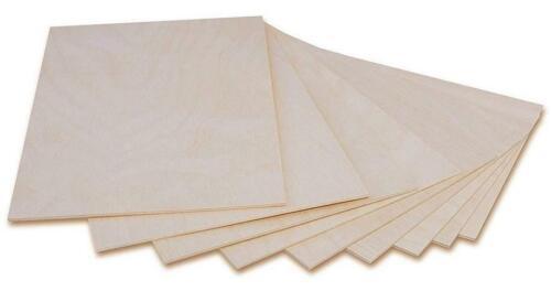 10 X A4 hojas de madera contrachapada 3mm300 X 210 X 3 MMmadera de abedul del Báltico capas Pirograbado
