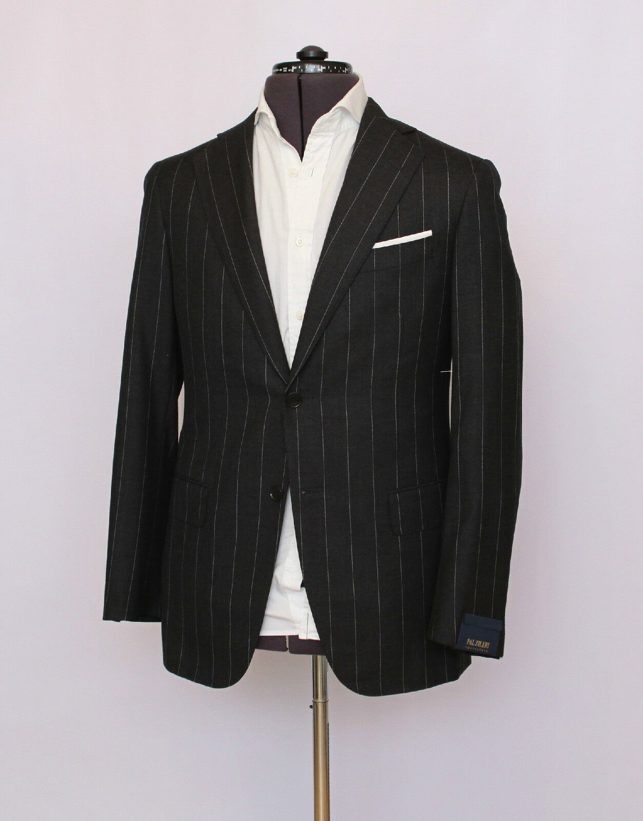 NWT 3,800 Pal Zileri Sartoriale Two Button Wool Cashmere grau Suit 44/54