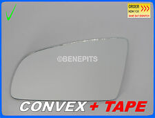 Wing Mirror Glass Audi A6 2004-2008 CONVEX + TAPE Left Side #A013