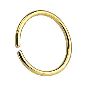 Body Piercing Jewelry Friendly Nasenpiercing Septum Piercing Continuous Ring 925 Silber Vergoldet To Win A High Admiration And Is Widely Trusted At Home And Abroad.