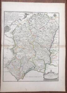100% Vrai Carte De Fer 1737 Le Languedoc Nimes Tournon UzÈs BÉziers Aubenas Soulager La Chaleur Et Le Soleil