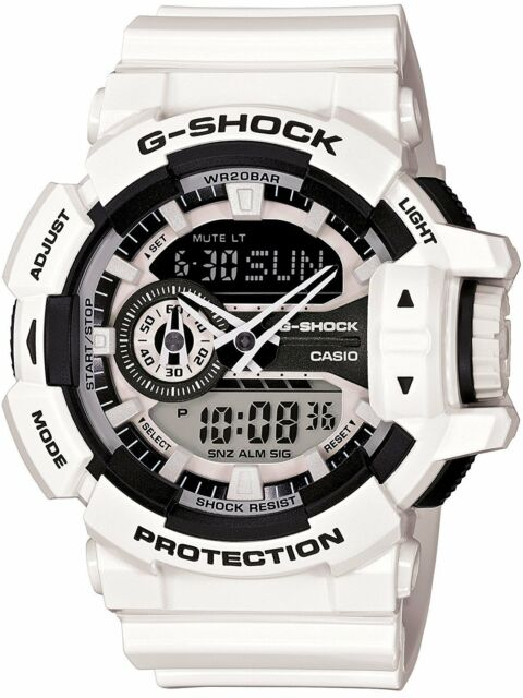 3fba6a5f270 Casio Wrist Watch G-shock Ga-400-7ajf Men s Round Face White Color ...