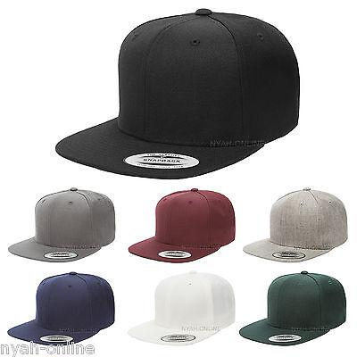 NEW PLAIN SNAPBACK CAP BLACK BASEBALL HIP HOP ERA RETRO FITTED FLAT PEAK HAT