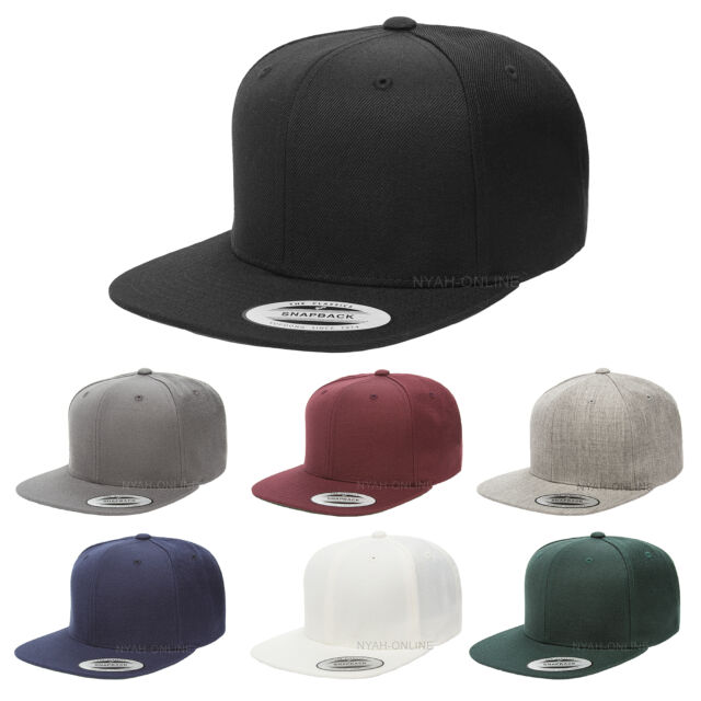 BLITZ NY FLAT PEAK CAP HIP HOP BLACK BLING FITTED HAT