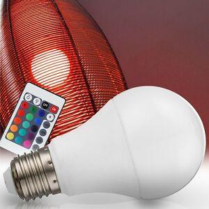 led rgb 7w farbwechsel leuchtmittel fernbedienung dimmer e27 lampe dimmbar bunt ebay. Black Bedroom Furniture Sets. Home Design Ideas