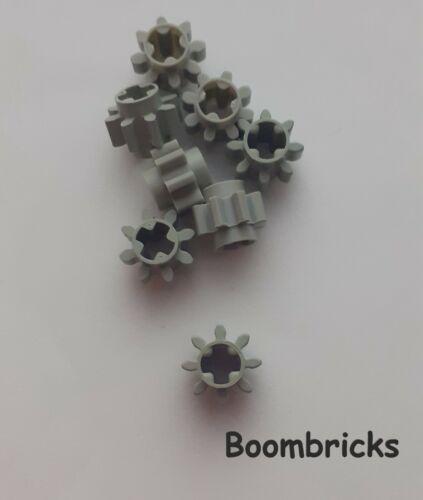 Lego 8 Stück Zahnrad 8 Zähne Alt-Hellgrau Nr.3647 gebraucht