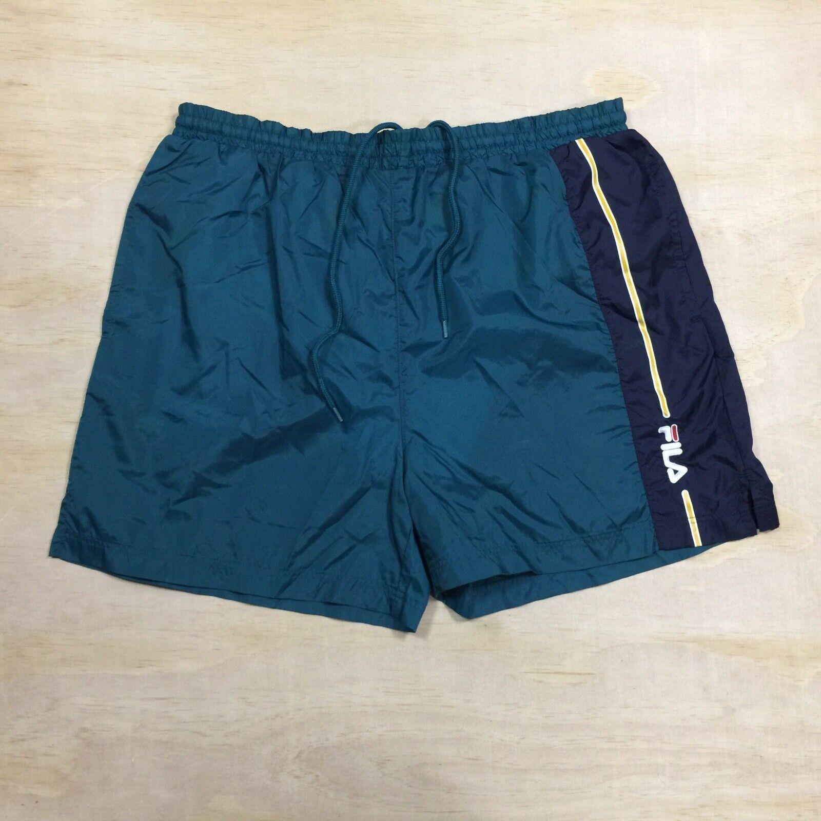 Vintage Retro Fila Swim Trunk Shorts Large