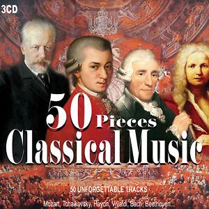 3CD 50 Pieces Classical Music Musica Classica Beethoven Vivaldi Mozart ...