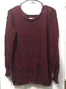Image is loading Pacsun-LA-Hearts-Knit-Burgundy-Maroon-Sweater-XS- e97cdf0c9