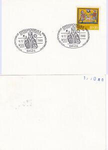 6624-GROSSROSSELN-3-6-12-1980-St-Nikolaus-Patron-Briefmarkenausstellung