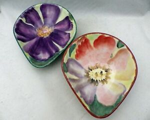 Pfaltzgraff-Flower-Market-set-lot-of-2-individual-salad-bowls-2005-EUC
