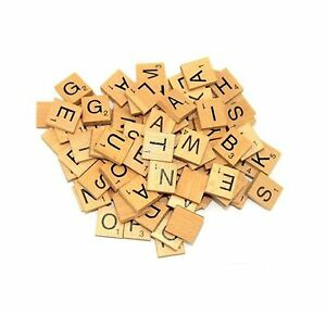 100-WOODEN-SCRABBLE-TILES-BLACK-LETTERS-NUMBERS-FOR-CRAFTS-WOOD-ALPHABETS