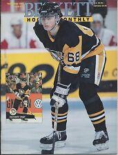 September 1991 Beckett Hockey Price Guide NHL  #11 Jaromir Jagr & Theoren Fleury
