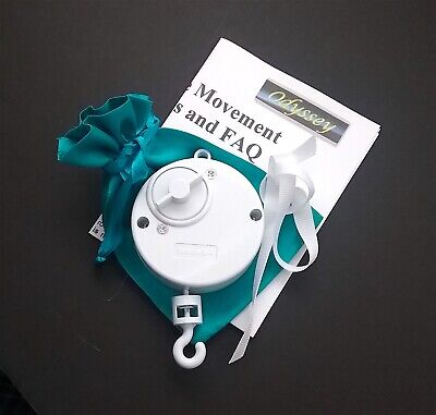 Themed Crib Mobile Musical Movement Spinner in White DIY ...