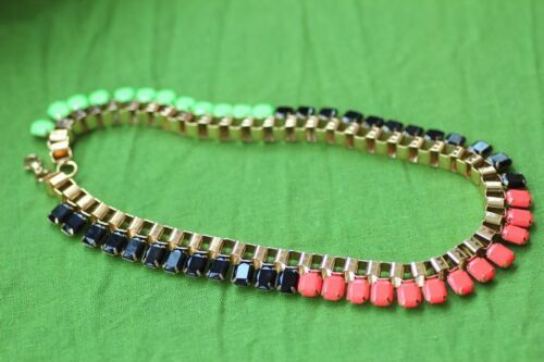 Collier Femme Chaine Corail Noir Vert Multicolore Original Mariage Cadeau JCR 13