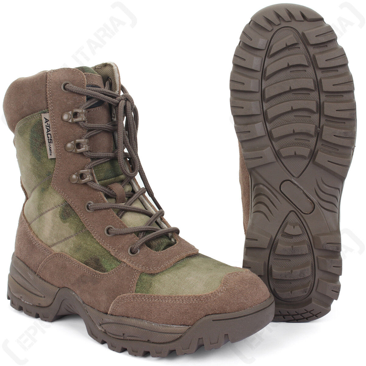 Mil-Tacs FG Pattern Side Zip Tactical Army Boots - ALL SIZES - Suede Leather NEW