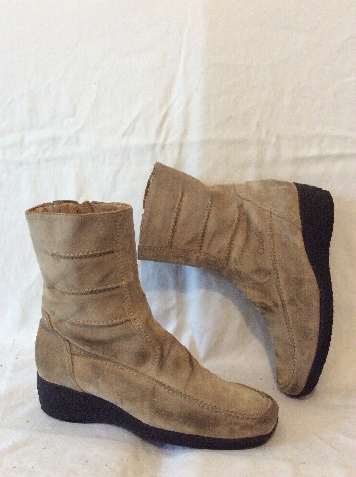 53b34d9b1456 Beige Mid Suede Boots Size 6 Calf Gabor axfrnf1662-Women s Boots ...