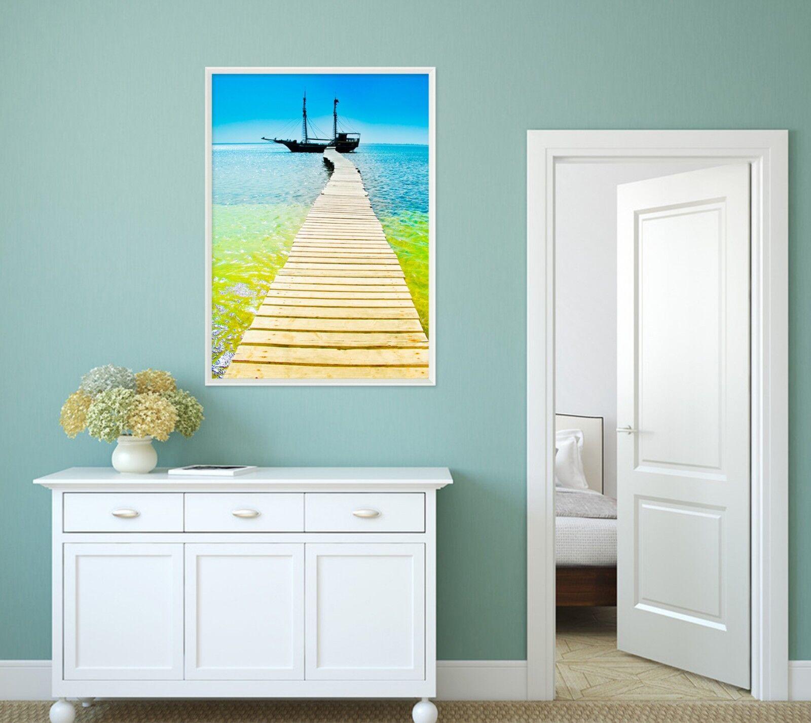 3D jaune Ocean Boat 3 Framed Poster Home Decor Print Painting Art AJ WALLPAPER